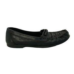 Generra Collection Mens Size 9.5  Black Woven Whip